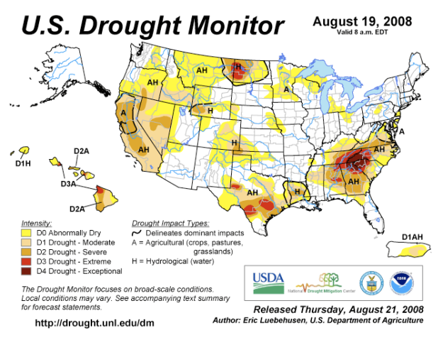 Droughtmap2008august21