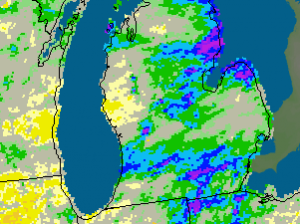 Michigan: Current 30-Day Departure from Normal Precipitation Valid at 6/12/2010 1200 UTC - Created 6/12/10 22:16 UTC