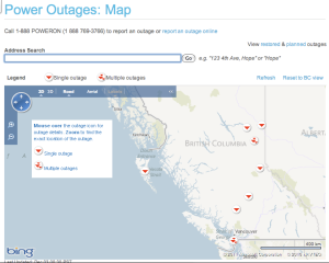 Power outage maps for all 50 states plus as many other