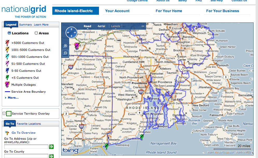 National Grid Report Power Outage Rhode Island