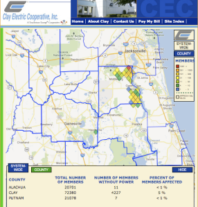 Clay-Electric-Florida-Outage-Map