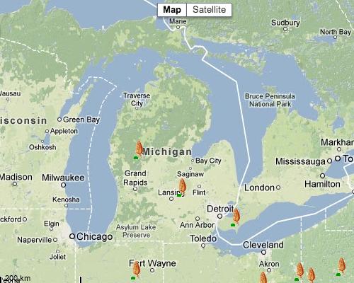 Morel Mushroom Michigan Map.Vielmetti Edward Vielmetti S Wordpress Weblog Page 54
